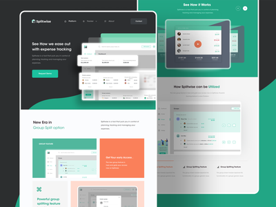 Marketing website design for Splitwise app ! splitwise color web design web website shots branding design screens minimal app ux product design ui design ui