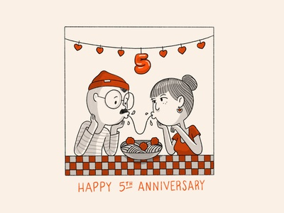 5yrs meatballs spaghetti love anniversary comics