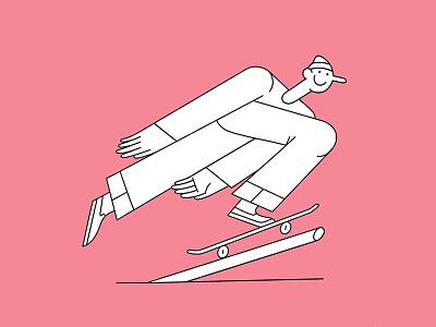 Pole Jam pinocchio pole jam skateboard illustration
