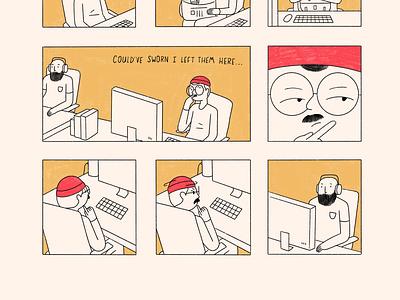Audio Technical Difficulties comics illustration