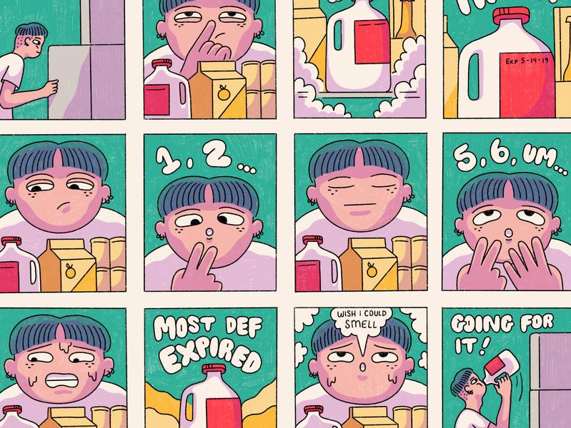 Mathcore Milkgoth comicsart short stories zines spoiled math goth milk indiecomics comics