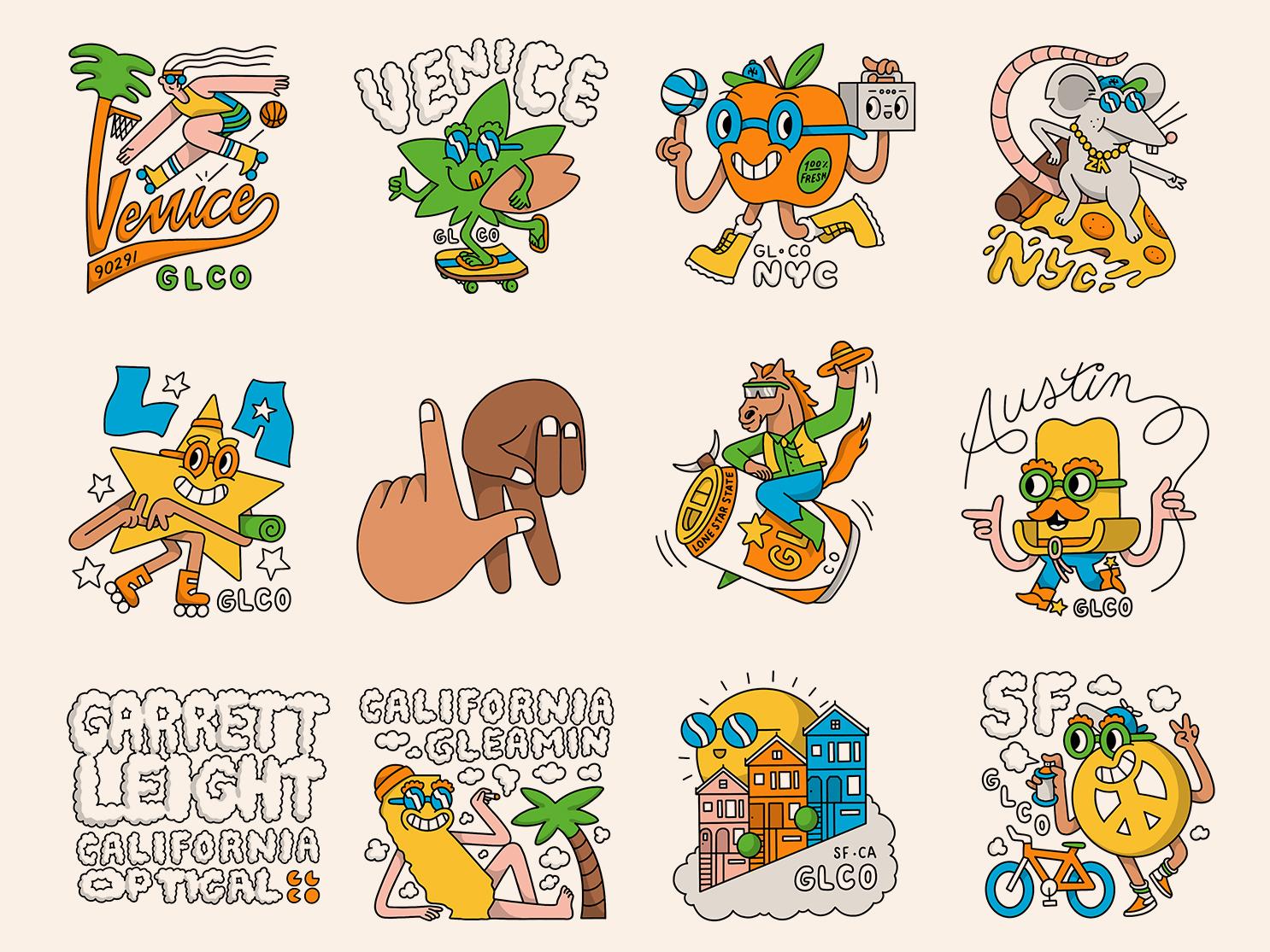 Garrett Leight Stickers pt. 2 venice los angeles sf austin texas nyc new york city austin garrett leight stickers
