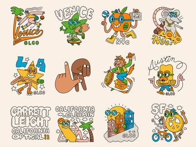 Garrett Leight Stickers pt. 2