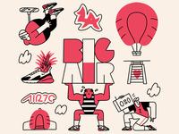 Nike LA: Elements of Air pt.2 air max 270 big air air max illustration nike