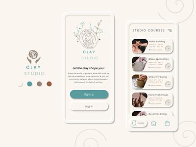 Clay Studio Interface - Neumorphism soft interface minimal design user interface design neumorphism ui design