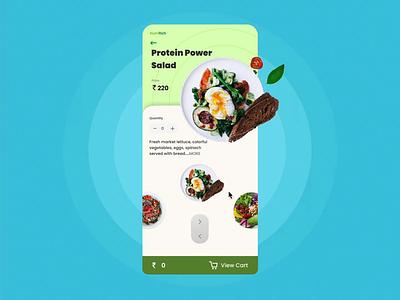 NutriRich - Wholesome Salad App fun food salad app smart animation animation ui