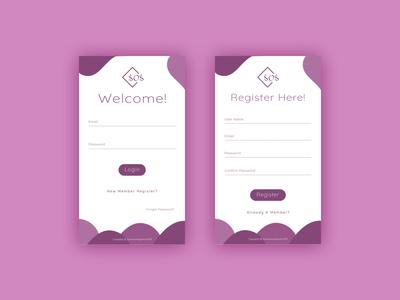 Login & Registeration Mobile UI