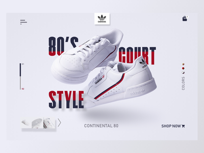 Adidas Web Landing Page ui design shoes webdesign website ui  ux ui