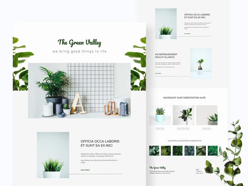 The Green Vally | Landing Page