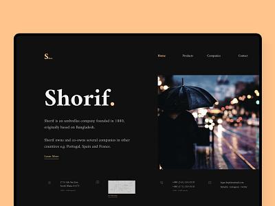 Shorif. ☂️ | Business Landing Page daily ui ux  ui ui concept business portfolio design figma ui  ux flat design web design landing page ui branding