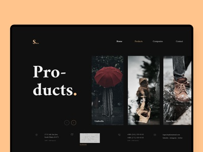 Shorif. ☂️ | Business Landing Page - Product Page ui ux design ui business landing page website daily ui landing page ui flat design figma web design ui  ux