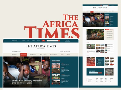 The Africa Times | Online News Portal Web Template website design web designer ui  ux online news news portal news feed design news app feed live ladning page ui figma deisgn africa
