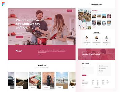 Business Landing Page [Figma Freebie ✌] business clean ui website design minimal creative clean flat freebie flat design web design figma ui  ux landing page ui