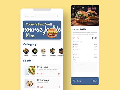 Food Menu Concept app ui ux burger ui  ux figma app design flat design restaurant branding food and drink restaurant app food app