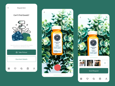 Grocery Delivery App | Request Item Function delivery app food app camera app app design daily ui flat design figma ui  ux grocery store grocery online grocery app