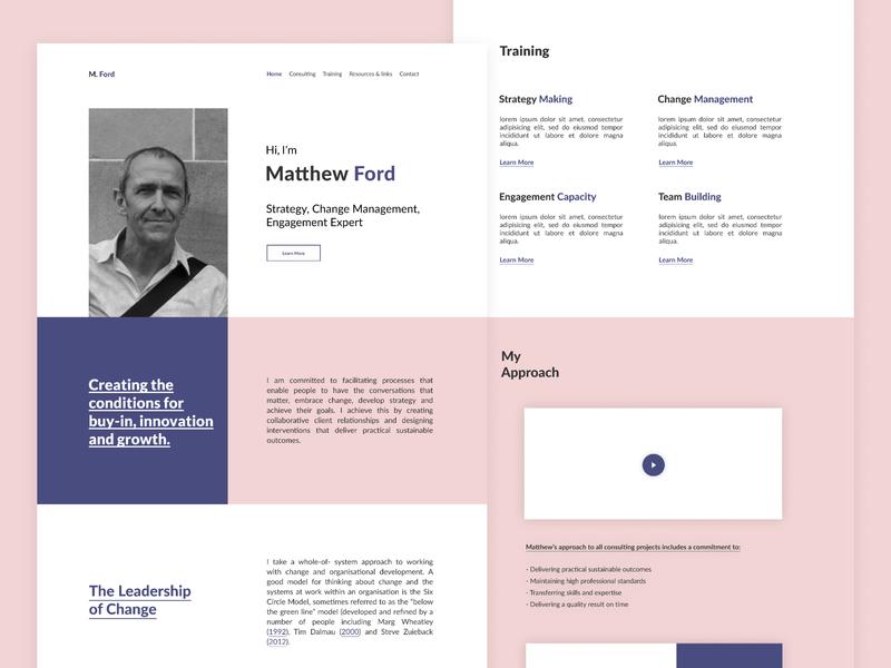 Mr Ford - Portfolio Design website flat web branding web design portfolio design design ui  ux