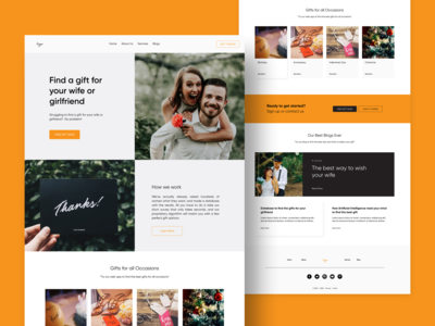 Freebie Gift Shop Website Template