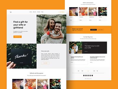 Gift Shop Website Template [Figma Freebie] design ui flat design daily ui freebie figma website simple gift shop landing page ui web design ui  ux