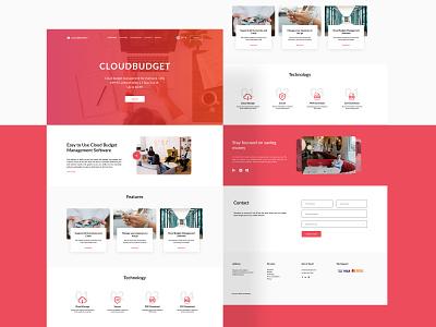 CloudBudget - Business Landing Page [Figma Freebie] branding flat design flat website daily ui freebie web design ui  ux figma landing page ui