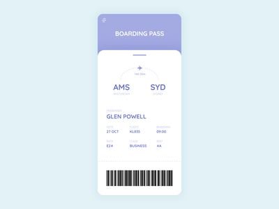 Boarding Pass flight flying boarding pass boardingpass app ux design ui dailyuichallenge dailyui
