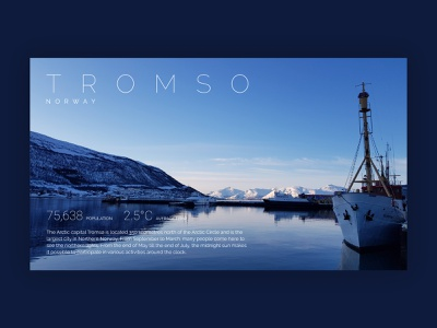 Info Card travel norway tromso info card information ux ui design dailyuichallenge dailyui