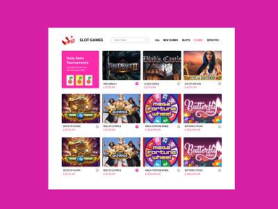 Slot Games Grid View ux ui casino bingo slots igaming visual design