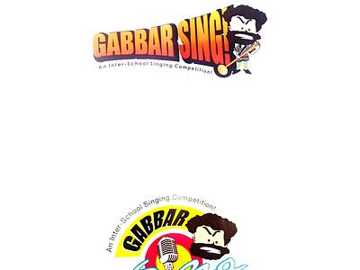 Gabbar sing logo design visual design