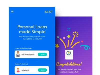 Personal loan app wireframes visual design ux ui