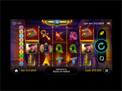 Game ui design slots casino game