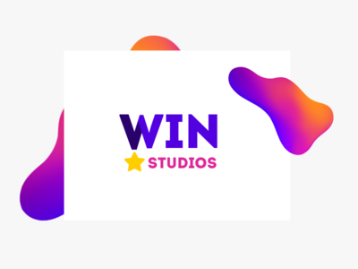 Win studios logo design branding identity typography colors visual design logo