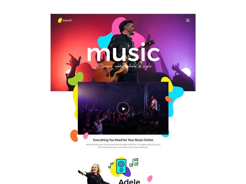 Music Website Theme colors ui  ux theme music website concept