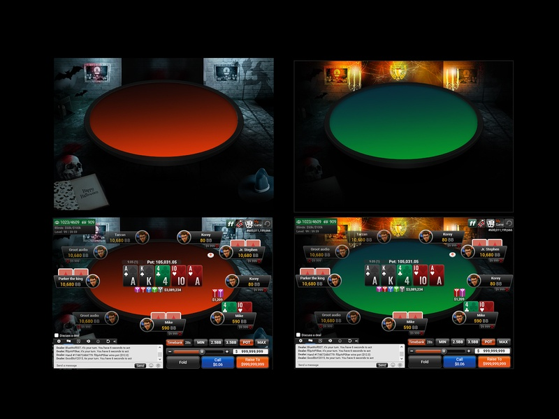 Halloween Theme _Poker Table creative concept casio game designer game poker game design