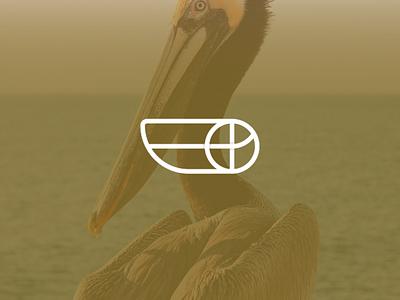 Dribbleican Logo birds soccer dribble basket ball sports pelican logo