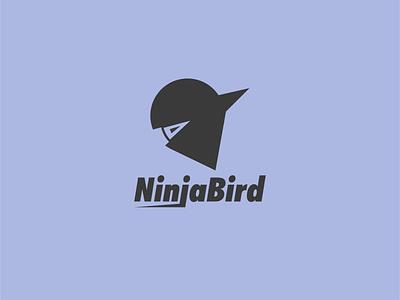 NinjaBird animal logo animal bird logogram dribbble dailylogo branding dailylogochallenge logo ninja mascot logo design ninja
