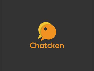 Chatcken Logo social chat restaurant branding chicken logo yellow restaurant app restaurantlogo chicken birds bird animal logo logogram dribbble logo dailylogo branding dailylogochallenge