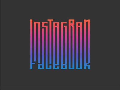 Instagram Facebook Gradient Logo brand identity facebook gradient socialmedia startup logogram dribbble dailylogo branding dailylogochallenge logo
