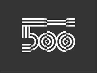 500 Monogram Logo instagram fold logo negative space negativespace dribbble dribble logogram branding dailylogo dailylogochallenge numbering number monogram