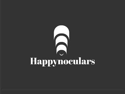 Happynoculars Logo dailylogochallenge negativespace dribbble dailylogo branding logogram logomark logo happy binoculars smile logo smile