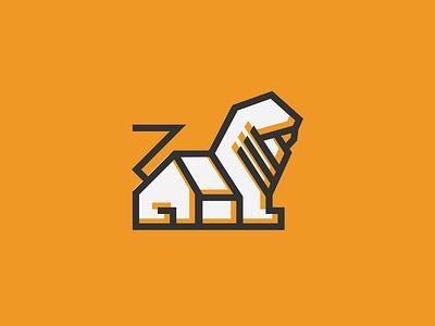 Lion House Logo realestate zoo animal monoline logogram dailylogo dailylogochallenge lion logo lion