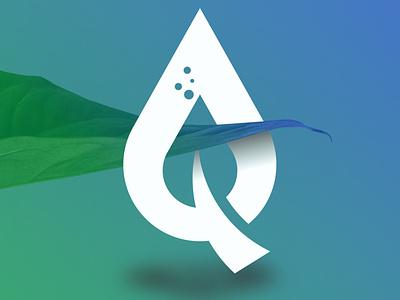 Qoleaf Water leaf logogram design logotype icon logo