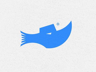 Rhinofish Logo ship sailing sea animallogo negativespace animal logo logogram branding logo dailylogochallenge rhinos