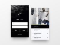 Nike Fitness UI Exploration