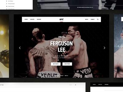 UFC motion website animation ux  ui ui. web  design web responsive fighter fight interaction video sports brand design website