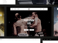 UFC motion website animation ux  ui ui. web  design web responsive fighter fight interaction video sports brand design website