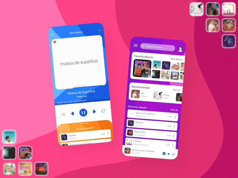 Fun Music Player App portugues app concept app design music player app music player ui music player music app music colorful