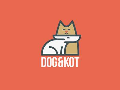 Dog&Kot dog cat logo
