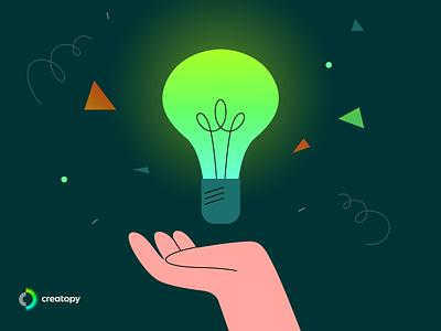 Creativity. Let it glow! design playoff creatopy ideas creativity