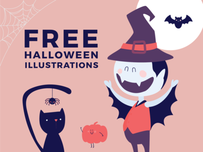 Free Halloween Illustrations Pack