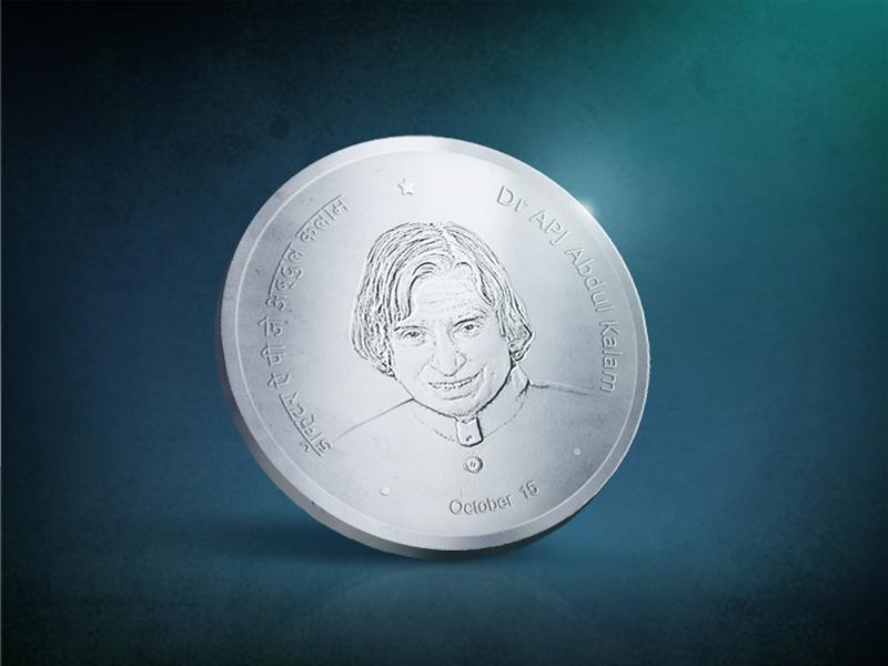 Avul Pakir Jainulabdeen Abdul Kalam apj kalam president icon coin india silver scientist nuclear