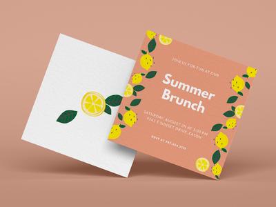 Summer Brunch Lemon Invitation